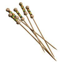"Bamboo Yellow Pearl Skewer 4.7"" - Set of 2000 (1 case)"