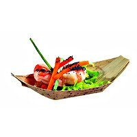 "Bamboo Boat 7"" x 4"" - Set of 100 (1 case)"