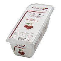French Frozen Fruit Puree, Morello Cherry 2.2 lb. Kosher
