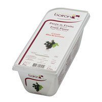 French Frozen Fruit Puree, Black Currant 2.2 lb. Kosher
