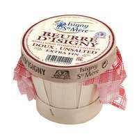 French Butter from Isigny AOC in a Wooden Basket - Unsalted - 8.8 oz.