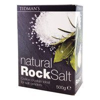 Tidman's Natural Rock Salt 17.6 oz.