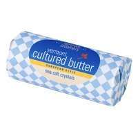 Vermont Cultured Butter with Sea Salt Crystals 12 oz.