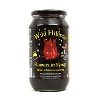 Wild Hibiscus Flowers in Syrup - 50 Whole Flowers