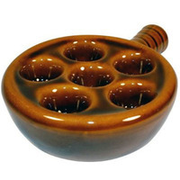 Ceramic Escargot Snail Plate w/Handle.