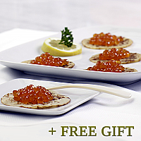 Salmon Roe Gif Set, 6 pcs