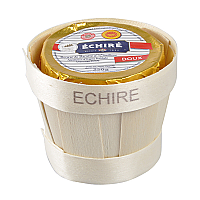 French Echire Butter AOC in a Wooden Basket - Unsalted - 8.8 oz.