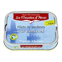 Sardines Natural Fillets, 3.5 oz
