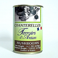 French Chanterelle Mushrooms in Water 14.1 oz.