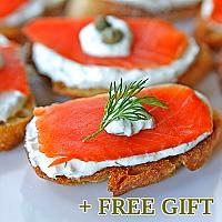 Salmon Appetizers Gift Set, 4 pcs