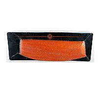 Fillet Marquis cut smoked Steelhead Trout salmon, Coeur de Saumon, 1.3-2.2 lb.