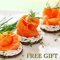 Kosher Smoked Salmon Gift Set, 4 pcs